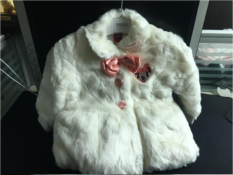 ФОТО Y1789 2017 New Winter Baby Girl Coat Solid Wihte fax Fur Fashion Girl Jacket Lolita Girl Outerwear girl Clothes