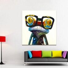 HD Книги по искусству ISAN стены Книги по искусству животных Картина Холст Книги по искусству лягушка с Стекло настенные панно для Гостиная Home Decor нет рамка