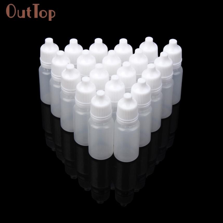 Beauty Girl 2017 25/50/100PCS 10ml Empty Plastic Squeezable Dropper Bottles Eye Liquid Dropper Sample Eyedropper Person Care