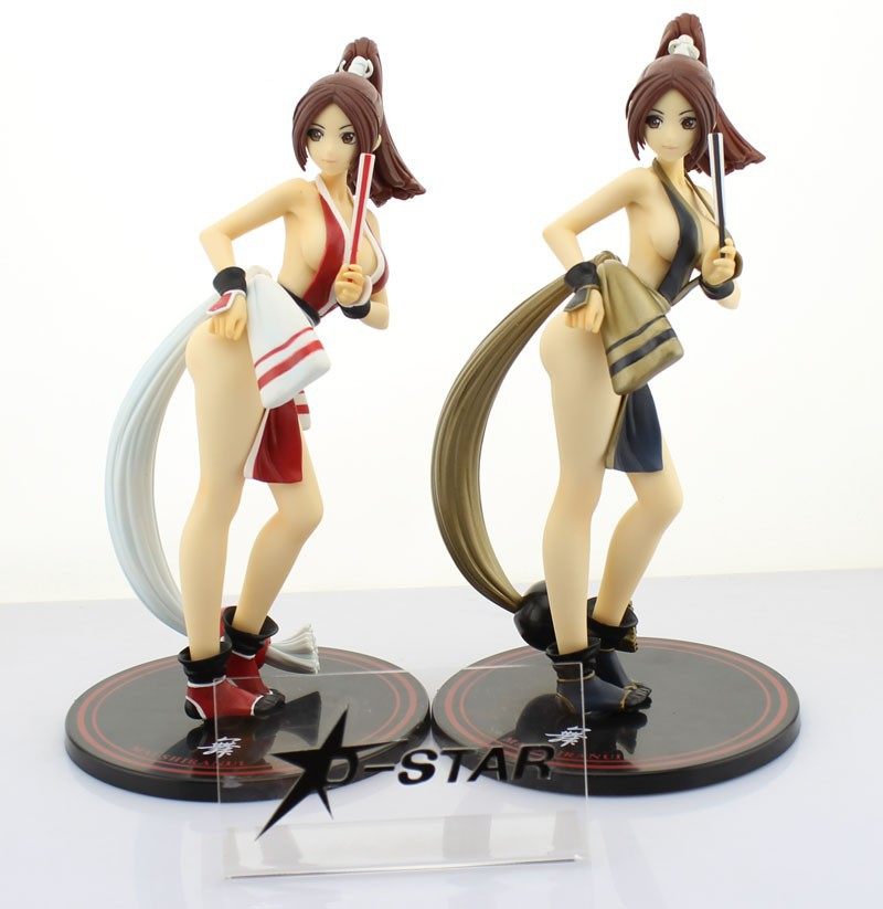 EMS Shipping 6pcs 11 KOF 13 The King of Fighters XIII Mai Shiranui PVC Action Figure Collection Model Toy Gift Red or Black free shipping high quality michael jackson the king of pop pvc action figure collection toy 1230cm otfg007