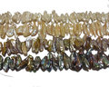 16 inches 8-20mm Natural Flat Freshawter Biwa Pearls Loose Strand