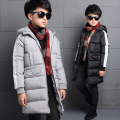 2016 New 5-16 Year Boys Winter Coats Warm Casual Fashion Children Hooded Outerwear Boys Down Jacket 90% Duck Down Coats 2Color