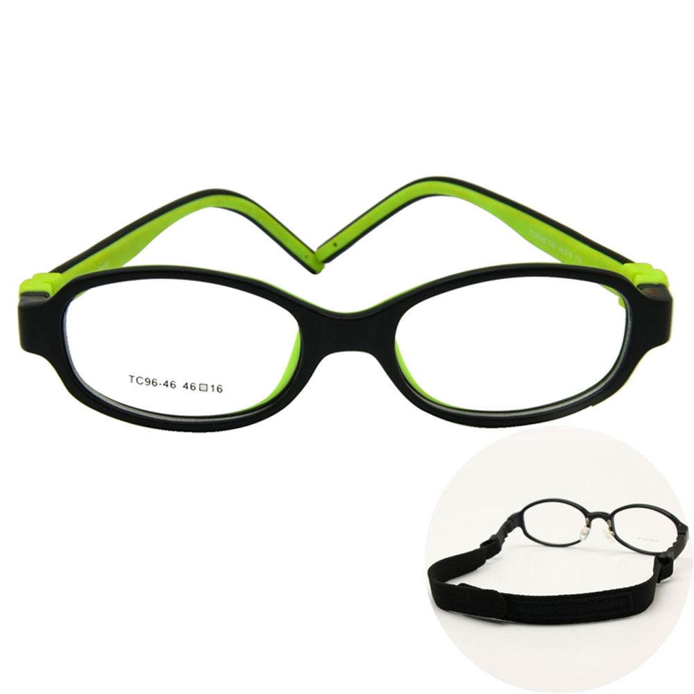 Children Optical Eyeglasses Measurement 46 No Screw Bendable Kids Glasses Body Teen Tr90 Silicone Versatile Body Sports activities Strap Elective