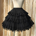 Sweet White/Black Hot Selling Three Layer Lace Lolita Petticoat/Tutu Skirt for Short Dress Free Shipping