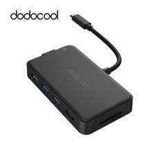 Dodocool 8 trong 1 USB HUB Đa Năng Loại C C HUB Type-C 4 K video HDMI Gigabit Ethernet Adapter Cho Macbook Pro(China)