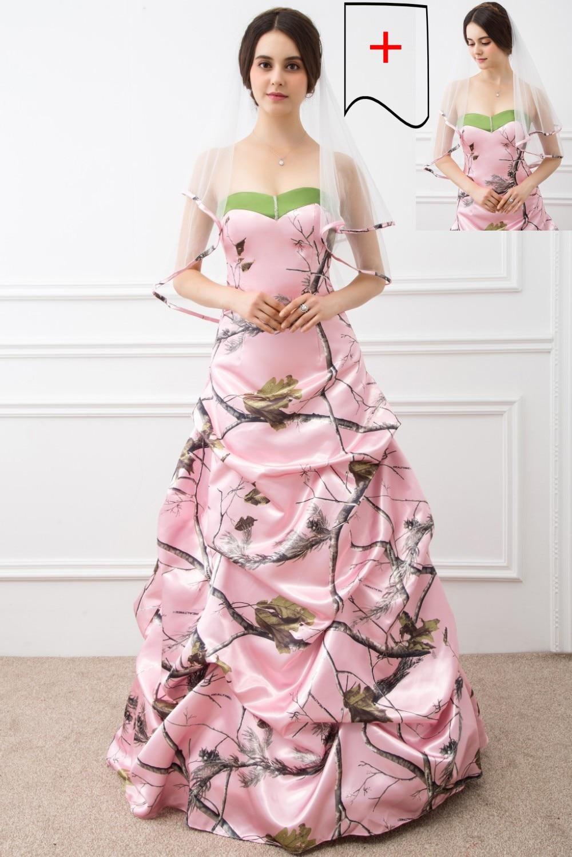 muddy girl pink camouflage wedding dresses 2018 vestido de noiva ...