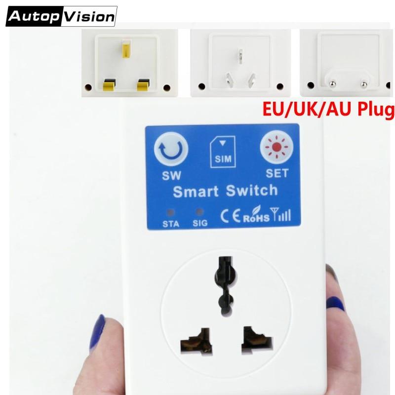 2018 Newest GSM Power Socket SC1-GSMVC EU/UK/AU Plug GSM SMS Mobile Phone Remote Control Wireless Smart Socket Switch