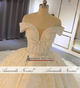 Image 2 - Роскошное бальное платье с открытыми плечами, свадебное платье, Аманда новиас, 2020