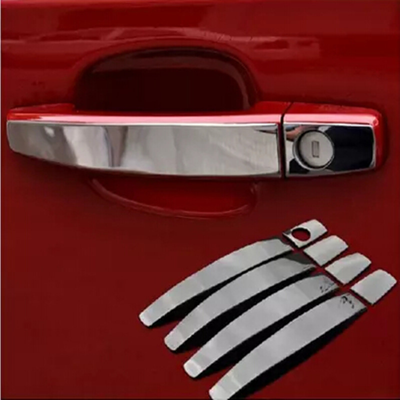 8Pcs/Set Stainless Steel Door Handle Cover Trim Sticker for Chevrolet Chevy Epica LOVA AVEO Captiva Cruze 2009 - 2016 Stickers