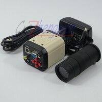 FYSCOPE 2.0MP HD 3 in 1 Digital Industry Microscope Video Industrial Set Camera VGA USB AV TV Output +C mount Zoom Lens