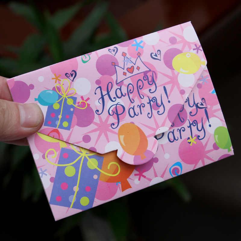 12pcs Paper Birthday Invitation Card Children Cartoon Crown Happy Birthday Party Invitation Cards Kids Greeting Cards Supplies
