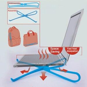 Image 2 - 1 paar Tragbare Laptop Stand Faltbare Halter Notebook Unterstützung Einstellbare Desktop Halterung Ergonomische Laptop Stand