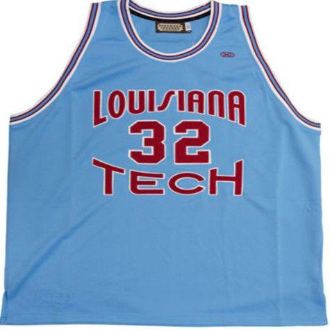 ФОТО #32 Karl Malone Jerseys ,Louisiana Tech Bulldogs Blue College Basketball Jersey Size XXS-6XL Karl Malone Basketball Jersey