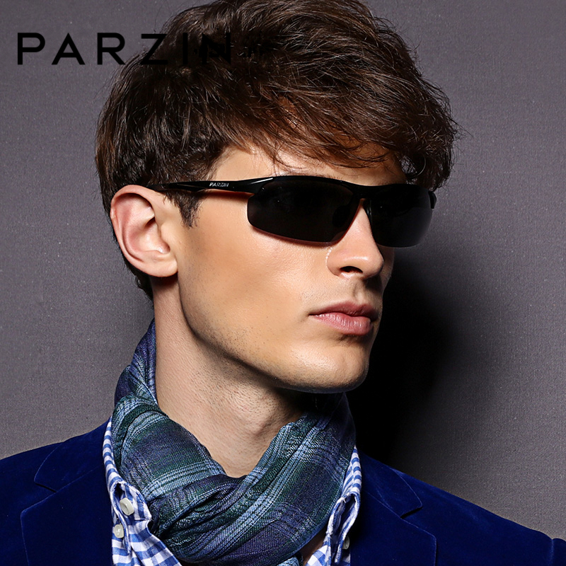 PARZIN Lelaki Goggle Polarized Sunglasses For Driving Quality HD Polarizing Nyata Kanta Sun Glasses Anti-UV400 Mata Wear Accessories