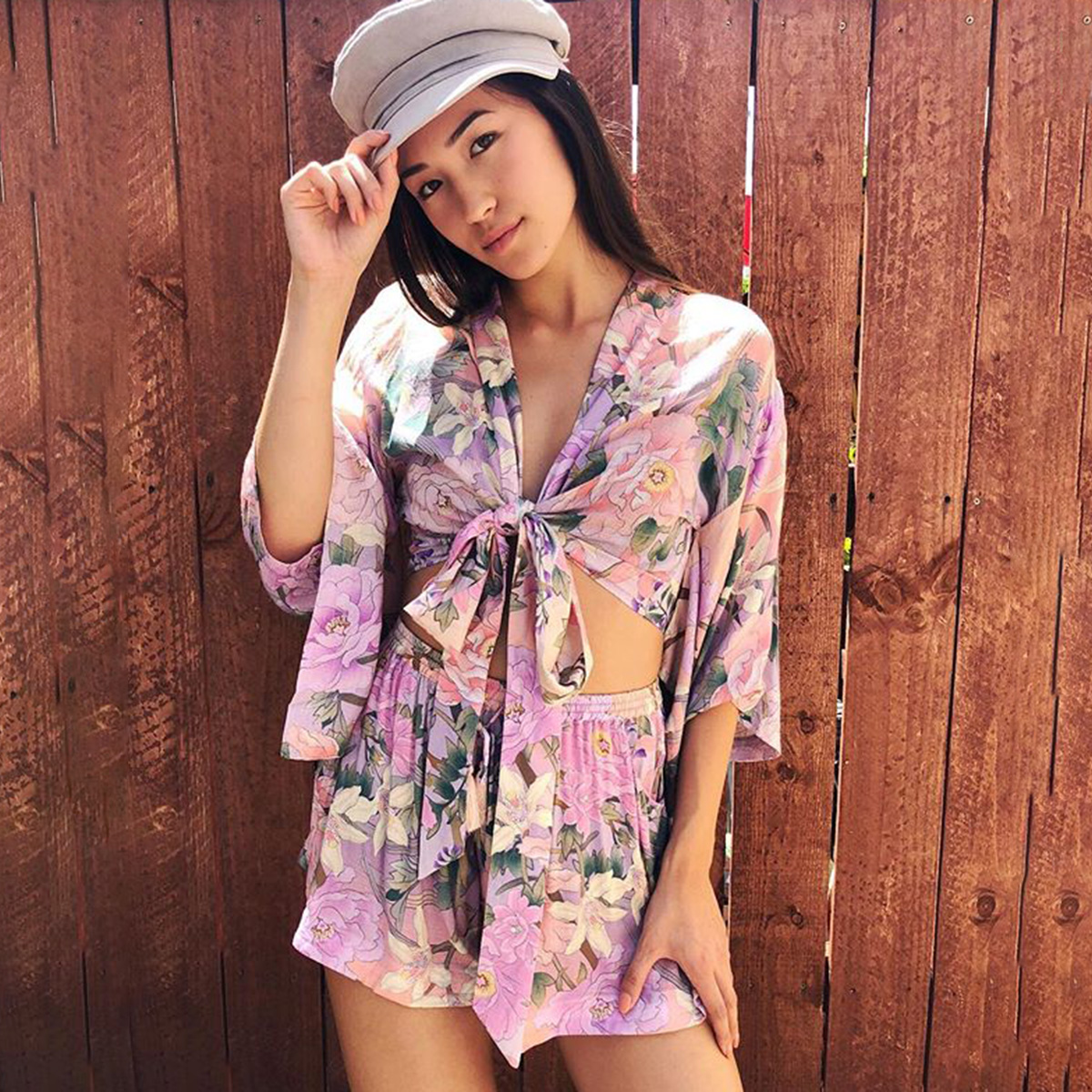 Floral Beach Top and shorts Set 1