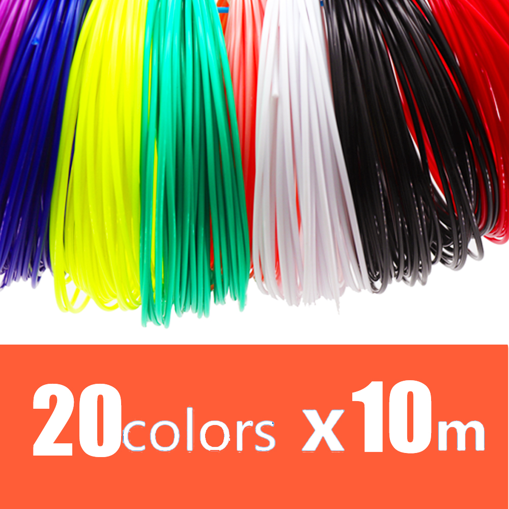 PLA/ 1.75mm 20 colors <font><b>3d</b></font> <font><b>pen</b></font> <font><b>filament</b></font> pla 1.75mm <font><b>3d</b></font> <font><b>pen</b></font> plastic PLA <font><b>filament</b></font> Rainbow For <font><b>3D</b></font> Printing <font><b>Pen</b></font> <font><b>3D</b></font> Printer image