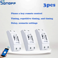 3pcs Sonoff Smart Home Wireless Intelligent Remote Control Products Itead Share Timer Diy 220V Via Android