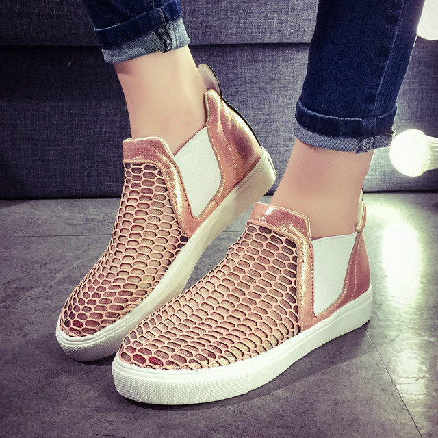 2015 Spring Summer New Mesh Legging Casual Shoes Loafers Hollow Lady Flats Breathable Single Women - Welcome to My Bags' Store store