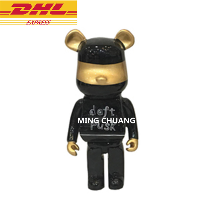 13bearbrick Cartoon Statue Be@rbrick Bust Gloomy 400% Resin Fiberglass Action Figure Collectible Model Toy Box D791 Bright And Translucent In Appearance Action & Toy Figures