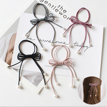 5PCS Women Tiara Satin Ribbon Bow Hair Band Rope Scrunchie Ponytail Holder Gum For Accessories Hairstyle Girl Headbands