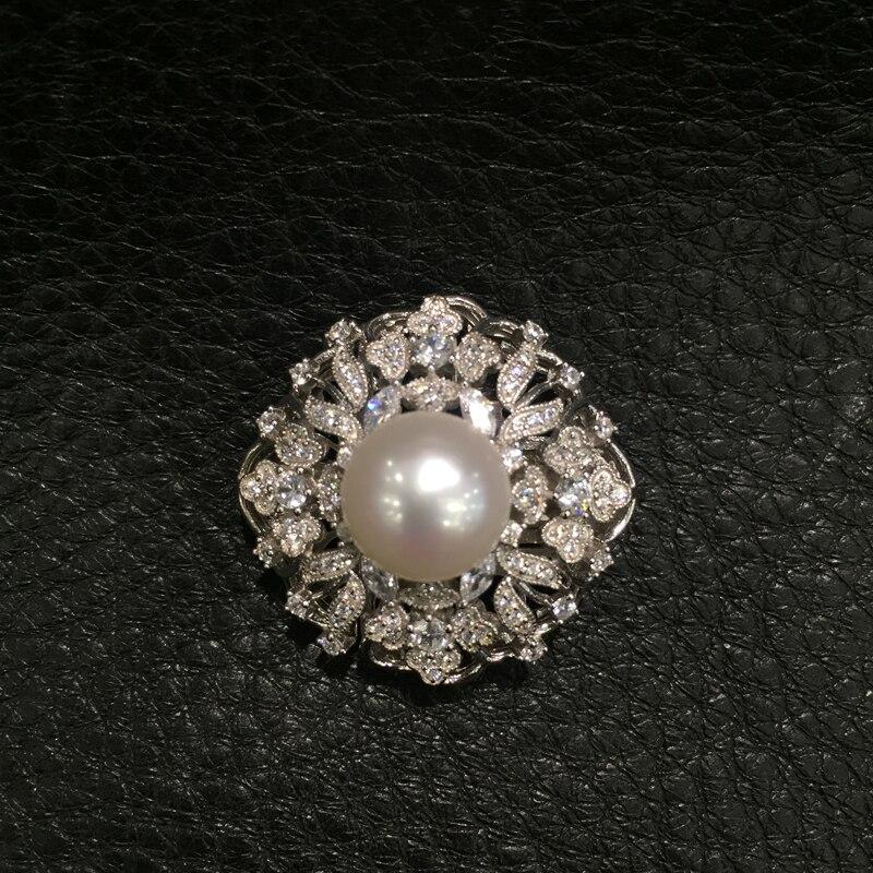 Bijoux à bricoler soi-même fermoir bijoux résultats connecteurs pour collier perle collier de verrouillage 925 argent sterling avec zircon cubique - 3