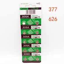 10 Pcs/lot 377 Battery AG4 LR626 377A 1.5V Alkaline Button Coin Cell Watch Batteries 6.8mm x 2.6mm for Watch Calculator Clock tianqiu ag4 lr626 377 1 55v alkaline cell button battery silver 10 pcs