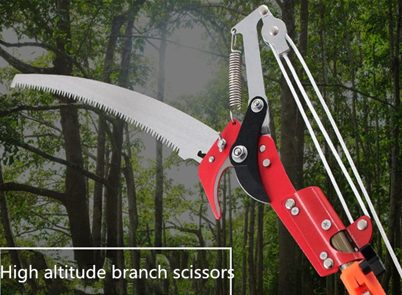 High branch shear telescopic aerial saw branch scissors(Scissors + saw + rope without rod) цена 2017