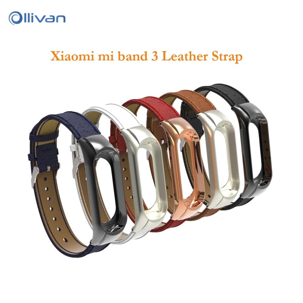 New Xiaomi Mi Band 3 Strap Genuine Leather Mi Band 3 Wrist Band for Xiaomi Mi band 3 Smart Watch Bracelet Xiaomi Miband 3 Straps