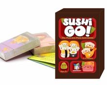 2016 hot sushi go card game full english version board game high quality suitable for the children and family game