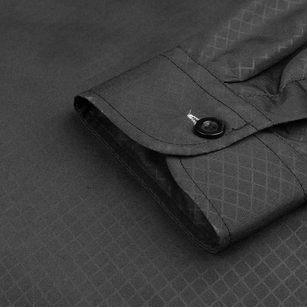 Muqgew Man Long Sleeve Shirts Silk Satin Chemise  Casual Fit Fashion Printed Blouse Casual Long Sleeve Slim Shirts Tops #5