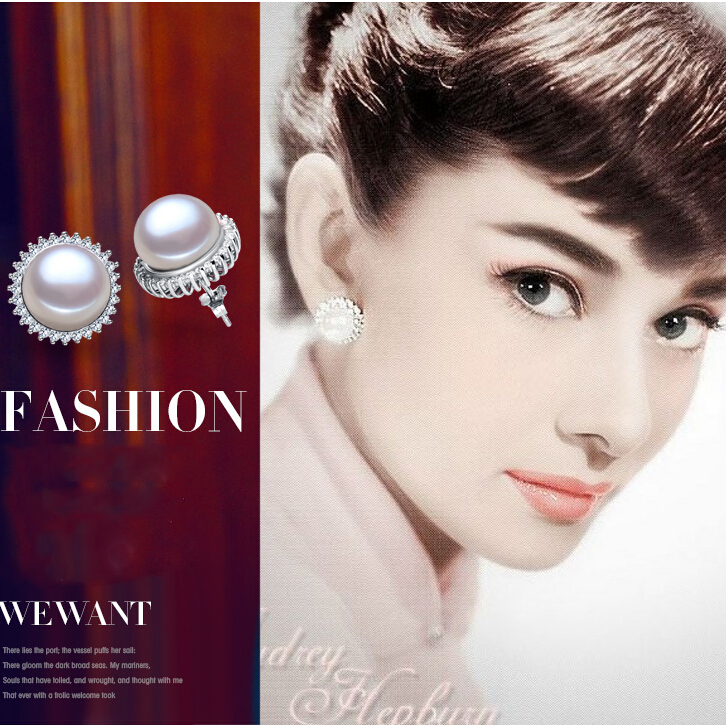 ZHBORUINI modni biseri uhani biser za ženske klasična Audrey - Lep nakit - Fotografija 2