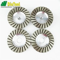 DIATOOL Diameter 4 inch 100mm Aluminum based diamond grinding cup wheel grinding wheel for granite concrete
