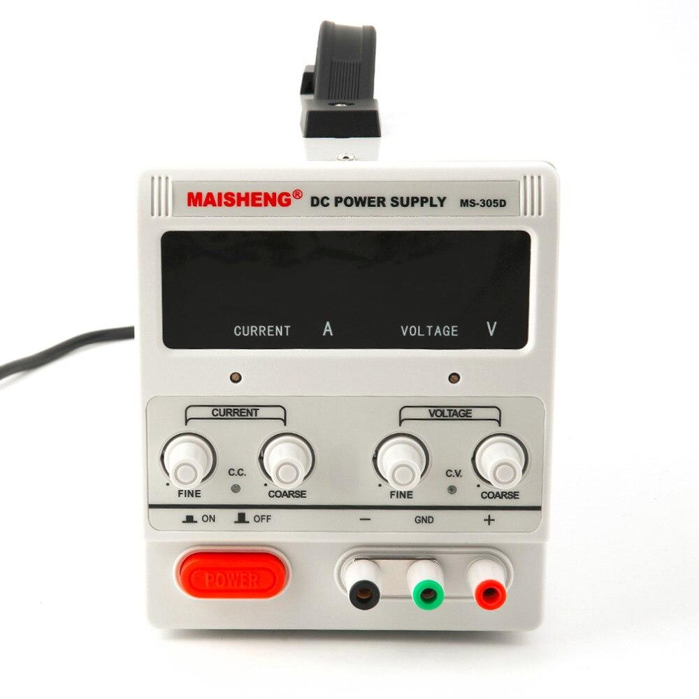 Регулируемый DC 30 В в 5A двойной цифровой переменной точности Лаборатория класс белый DC питание Лидер продаж