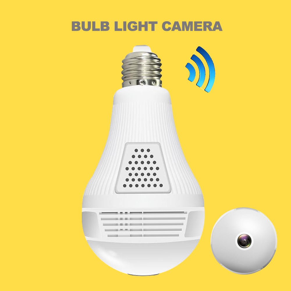 Witrue Bulb Light Camera Wifi Wireless IP Camera 360 View Mobile View Two Way Audio TF