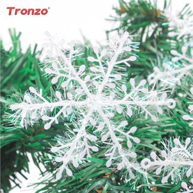 Tronzo Christmas Party Snowflake 90pcs Christmas Supplies Snowflake New Year Party Plastic Christmas Tree Snowflake Decorations