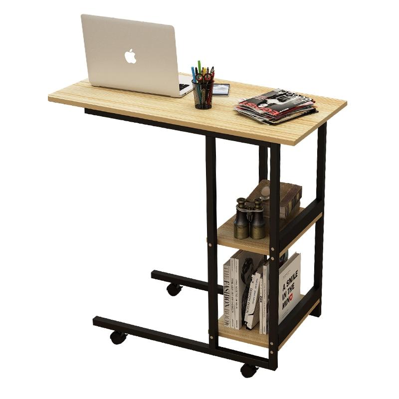 Дерево Регулируемый компьютерный стол многофункциональный Портативный ноутбука подвижный компьютерный стол с шкив