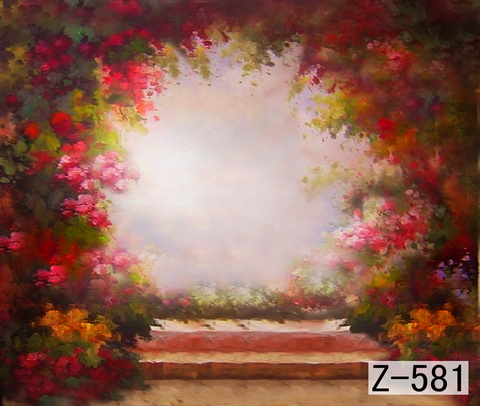 10*10ft Hand Painted Muslin scenic Photo Backdrops,Studio wedding backdropZ581 ,fundo da fotografia,cloth photography background