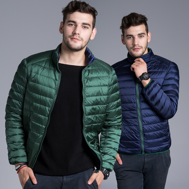 new winter ultra thin short slim Jacket Mens down coat