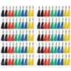 100 Pcs 5 Color Nickel Plated Banana Plug For Test Probes 4mm Binding Post Jack Soldering