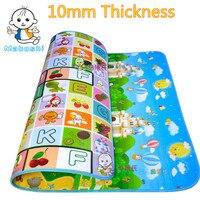 Thicken 1cm Baby Play Mat 1 8 1 5 M Fruit Letter Castle Kids Children Beach