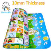 Thicken 1cm Baby Play Mat 1 8 1 5 M Fruit Letter Castle Kids Children Beach