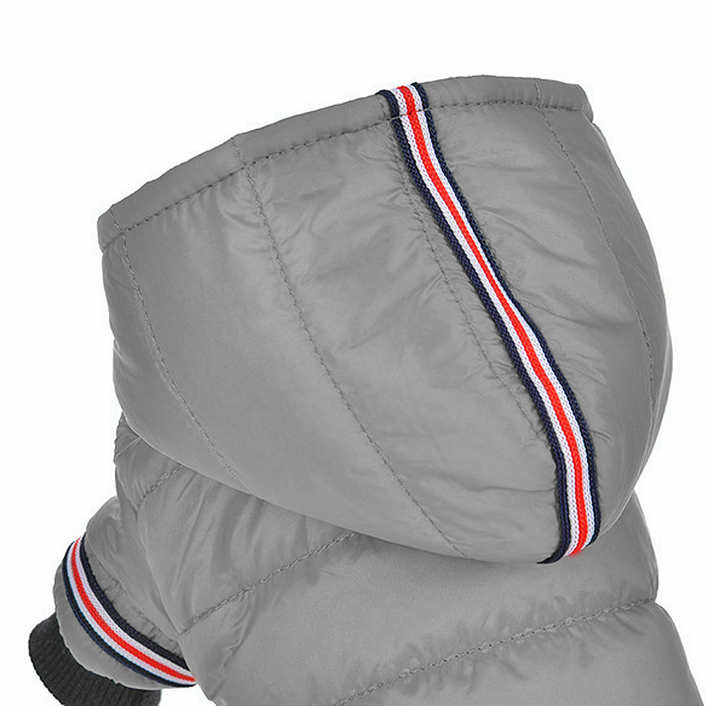 Warm Dog Jacket with Hoodie Made of Soft Polyester to Protect Dogs from Cold 5