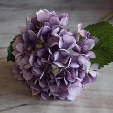 Fashion Artificial Hydrangea Flower Silk Cloth Plastic Wedding Supplies DIY Home Decoration For Birthday Party Festival Gift