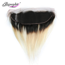 Bigsophy Malaysian Straight Hair Blonde Color 1B/ 613 Lace Frontal Closure Human 13x4 Remy Extension