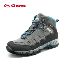 Clorts Anti-skid Mountain Boots Men Waterproof Climbing Shoes Genuine Leather Hiking Shoes Outdoor Shoes Winter Sneakers HKM-823