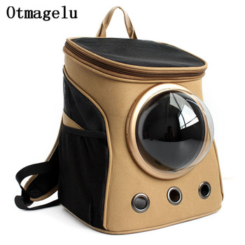 Canvas Space Capsule Car Cat Backpack Cover Bubble Window for Kitty Puppy Small Dog Carriers Crate Cage Outdoor Travel Dog Bags