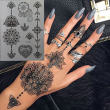 Black Henna / Lace Style Temporary Tattoo for Hands