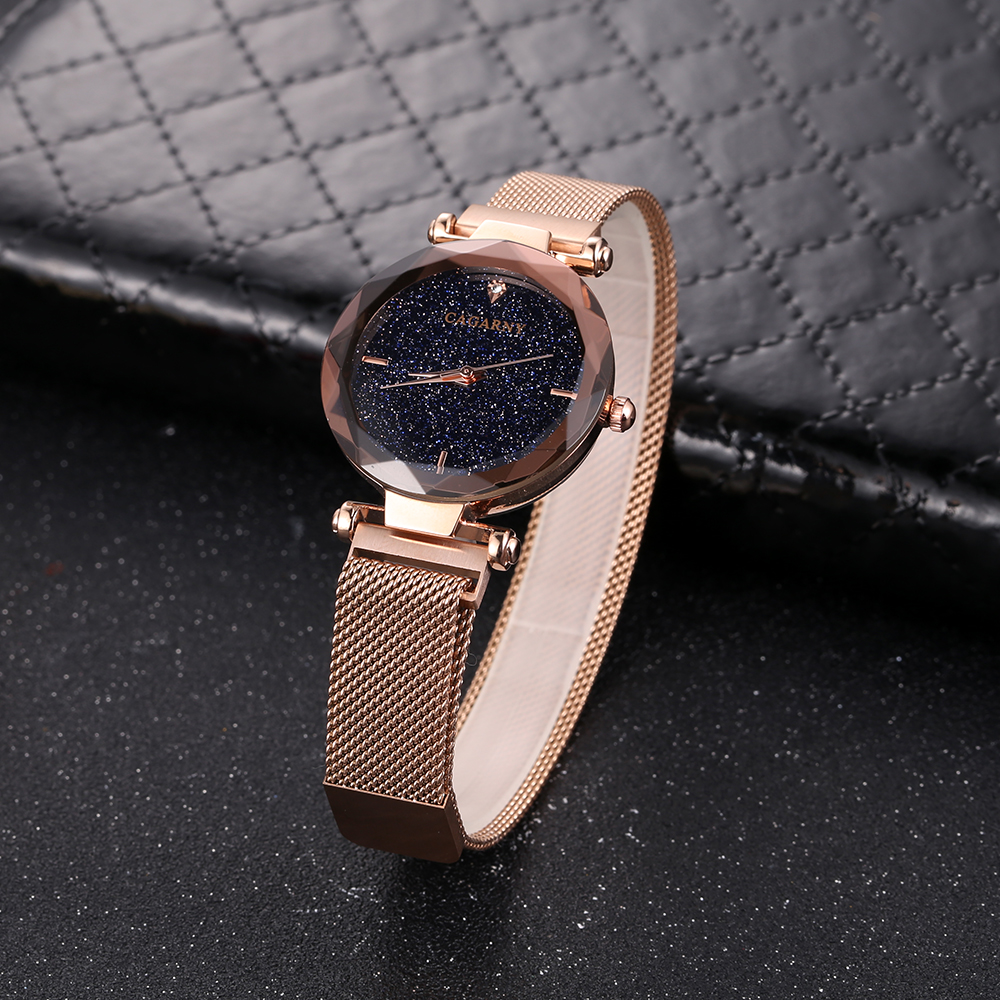 top luxuru brand cagarny quartz watch for women creative wristwatches vogue ladies wristwatches rose gold mesh band 2018 wholesale drop shipping (6)