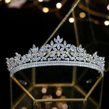 Jane kristal Ling zirkon gelin taç su taç düğün kafa bandı galvanik kristal düğün saç aksesuarları parti