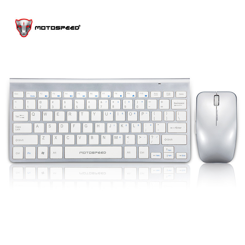 Motospeed G9800 2.4G Wireless Keyboard and Mouse Mini Multimedia Combo Set Laptop Macbook Desktop PC TV Office